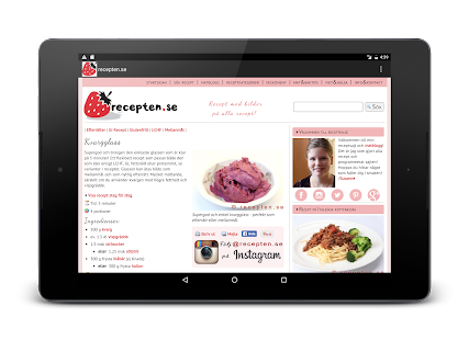 recepten.se- screenshot thumbnail