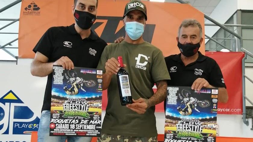 Alejandro Nieto, Edgar Torronteras y Patricio Nieto, de Motos Nieto en Carboneras
