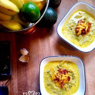 Broccoli Cheddar Cauliflower Soup.