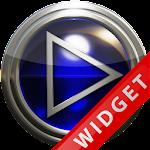 Poweramp Widget Blue Glas Icon