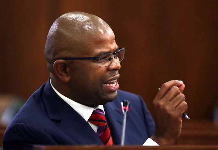 Former Prasa CEO Lucky Montana appears before the Eskom parliamentary inquiry into state capture on January 30 2018. PICTURE: ESA ALEXANDER