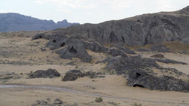 Lakeside caves