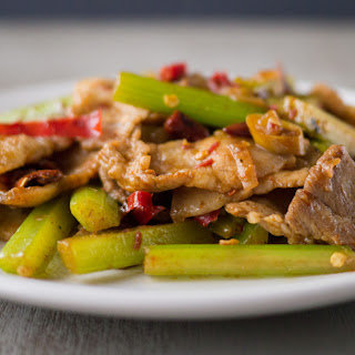 Stir-Fried Pork with Cumin (孜然肉片)