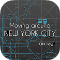 Moving around New York City icon