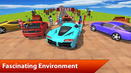 Superheroes Car Stunts mania 3D - náhled