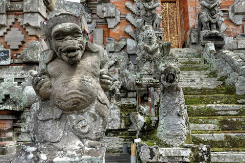 Indonesia. Crafts . Stone Statue at a private temple on Bali