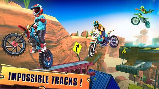 Code Triche course vélo d'essai: xtreme stunt bike jeux course APK MOD (Astuce) screenshots 2