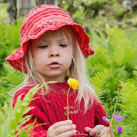 Martta by Tuula Fagerholm - Babies & Children Child Portraits ( grandchild, girl, martta, martta grip, garden, flower,  )