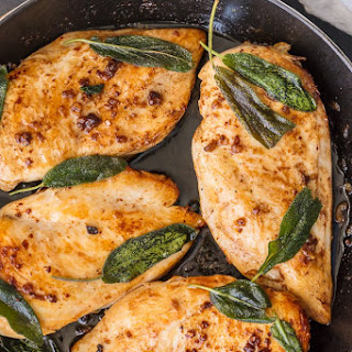 Garlic Brined Chicken with Crispy Sage.