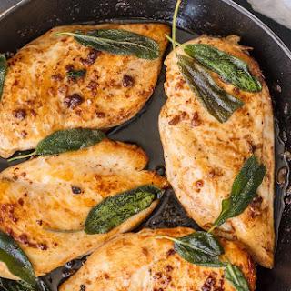 Garlic Brined Chicken with Crispy Sage.