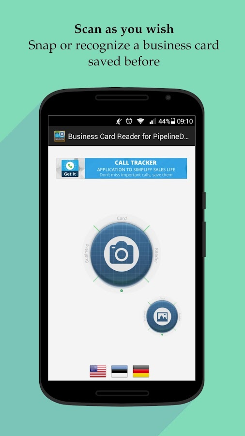Free Business Card Reader for PipelineDeals CRM- screenshot