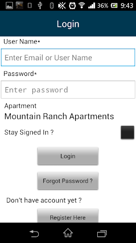 android Mountain Ranch Apartments Screenshot 10