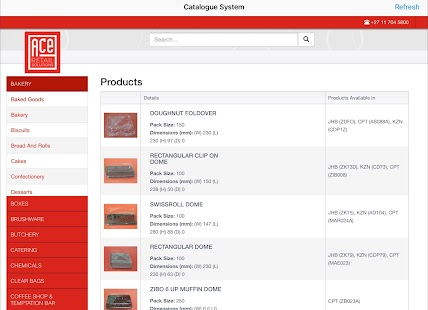 ACE Retail Solutions Catalogue APP- screenshot thumbnail
