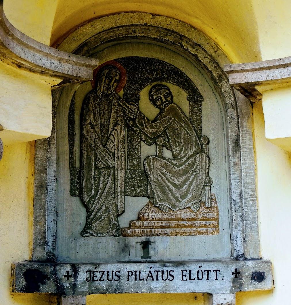 Bajót-Pélföldszentkereszt, Szent kereszt templom és stációs kálvária