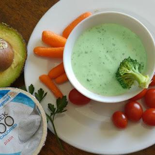 Creamy Avocado Cilantro Veggie Dip