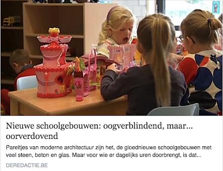 Nieuwe schoolgebouwen: oogverblindend, maar... oorverdovend