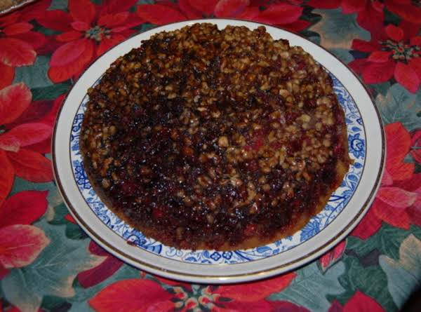 Cranberry Walnut Upside Down Cake Recipe