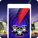 Police detector radar scanner icon