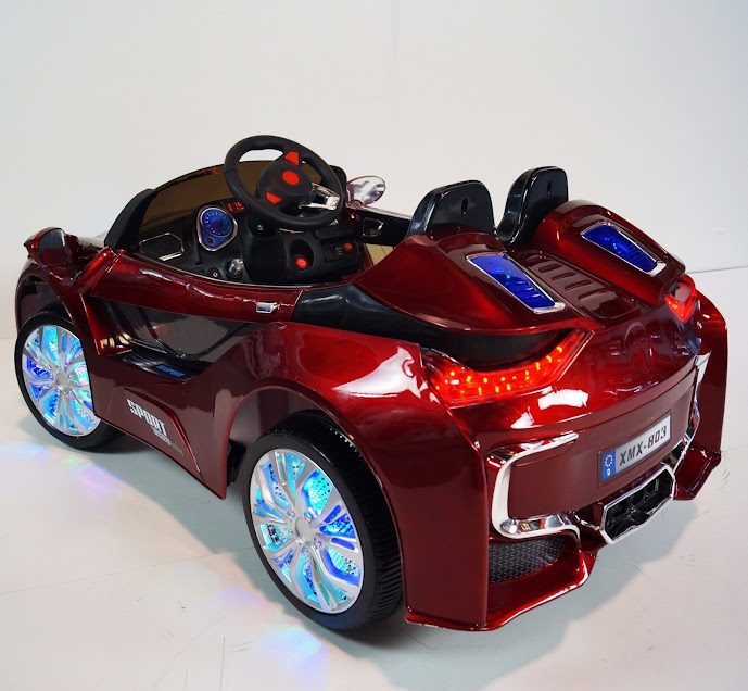 Bmw I8 12v Electric Ride On With Remote Control: Electric Car BMW I8 12V Red Power Wheels Remote Control