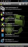 Screenshot of My APKs backup share apps