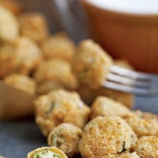 Fried Okra With Creamy Buttermilk Dip