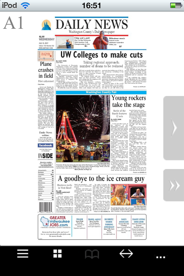 West Bend Daily News- screenshot