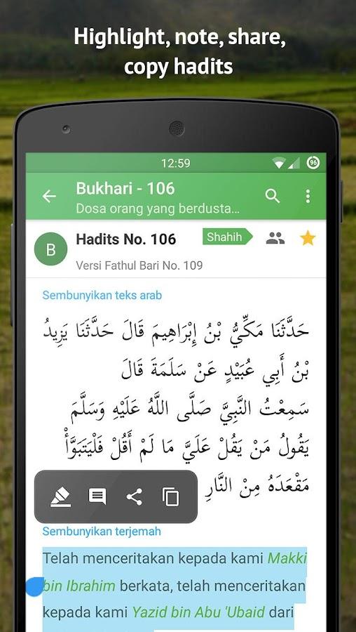 Ensiklopedi Hadits 9 Imam dalam Satu Aplikasi Smartphone |