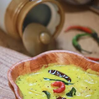 Mambazha Pulissery – Mambazha Kalan Recipe – Ripe Mango in a Yogurt Gravy