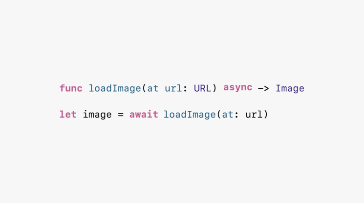 Writing async/await code. Image Credits: Platforms State of the Union WWDC'21