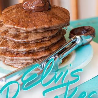 Gluten-Free, Dairy-Free, Egg-Free Chocolate Elvis Pancakes.