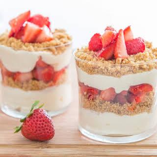 No Bake Strawberry Cheesecake Parfaits.