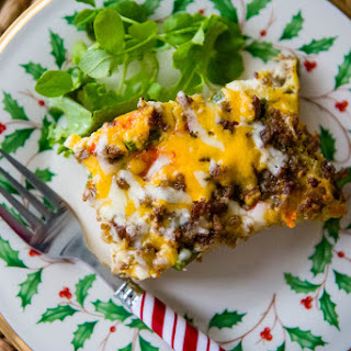 Cheese and Sausage Breakfast Casserole.