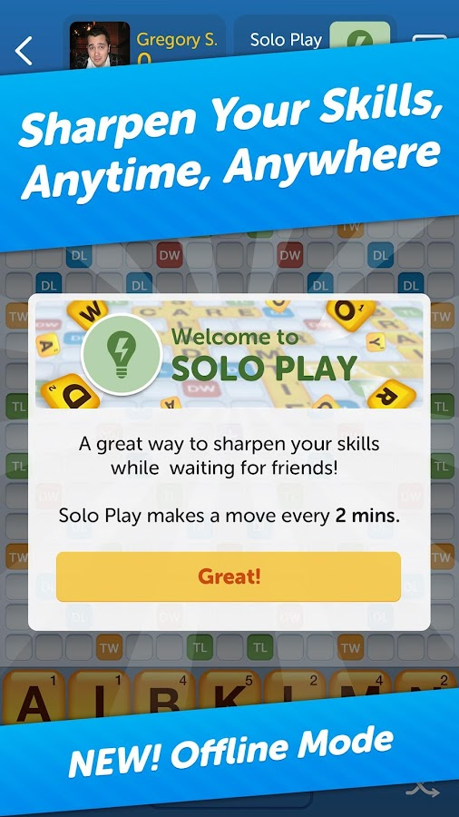 words with friends play free screenshot