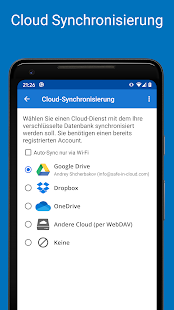 Passwort Manager SafeInCloud Screenshot