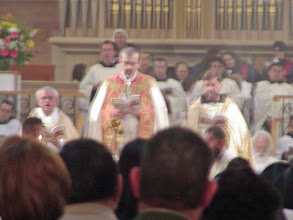 Photo: The bishop at the end of the Epiphany Mass
