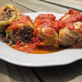 Easy Lentil Stuffed Cabbage.