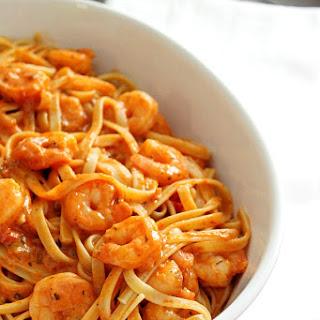 Creamy Creole Shrimp Fettuccine with Imagine® Organic Culinary Simmer Sauces.