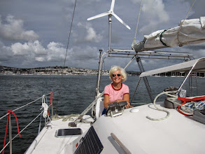 Photo: Admiral and navigator is back! And we are on our way from Falmouth to Portsmouth