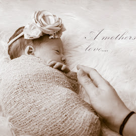 Mothers love by Todd Wallarab - Typography Captioned Photos ( love, mother, baby girl, pink, baby, mom, girl )