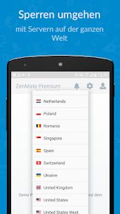 ZenMate VPN Screenshot