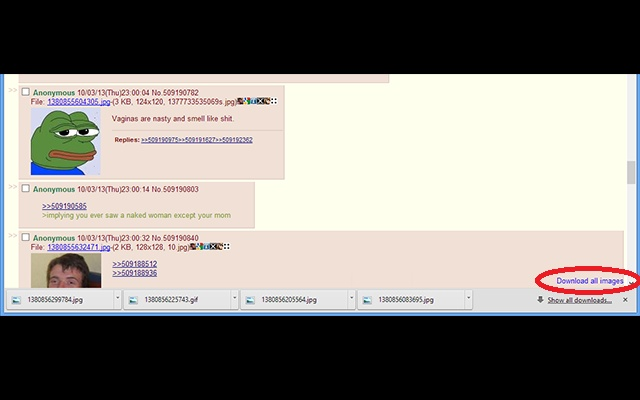 4chan Image Downloader chrome extension