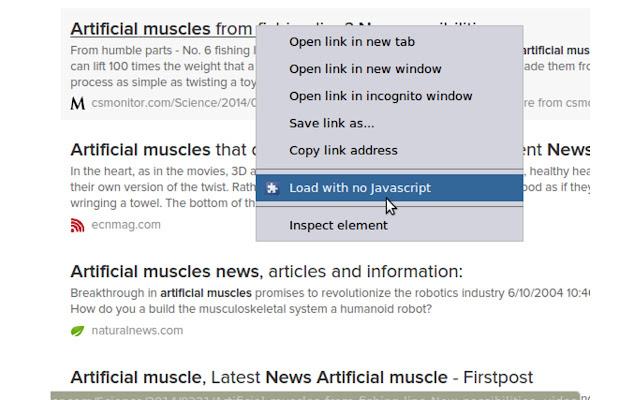 Right-click option: no javascript