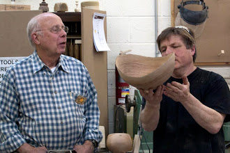 Photo: Mike believes that the base could be smaller and add to the form, Bill wasn't so sure.