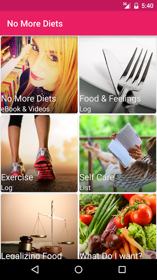 No More Diets- screenshot