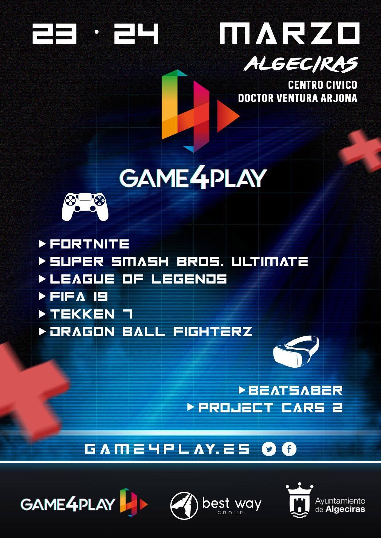 """El 23 y 24 de marzo se celebra el """"Game4Play Algeciras 2019"""""""