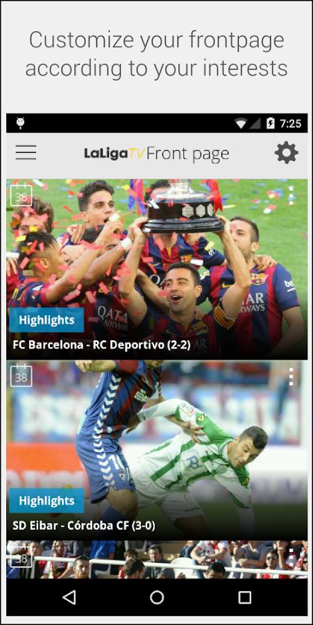 LaLiga TV – Official Football- screenshot