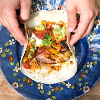 Chipotle Steak Fajitas with UNCLE BEN'S® Spanish Rice.