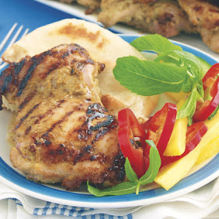 Grilled Curry Chicken with Mango Salad.