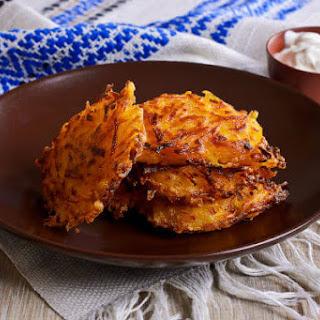 Vegan Sweet Potato Pancakes.