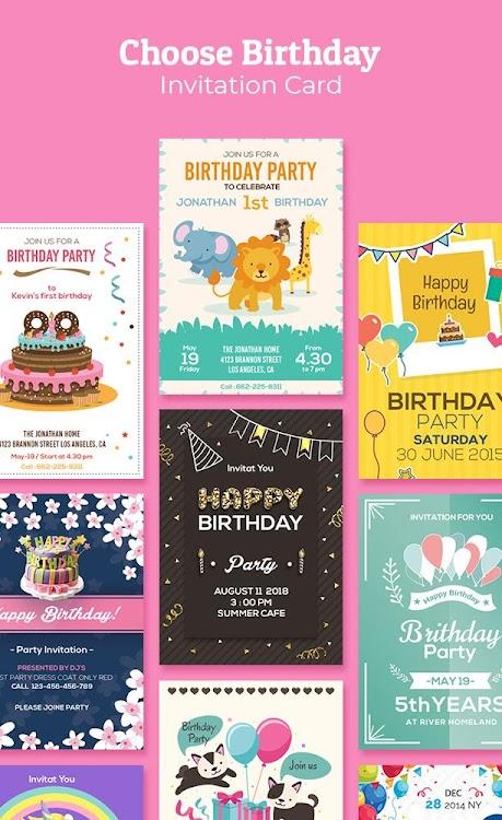 Birthday Invitation Maker Invitation Card Maker Android